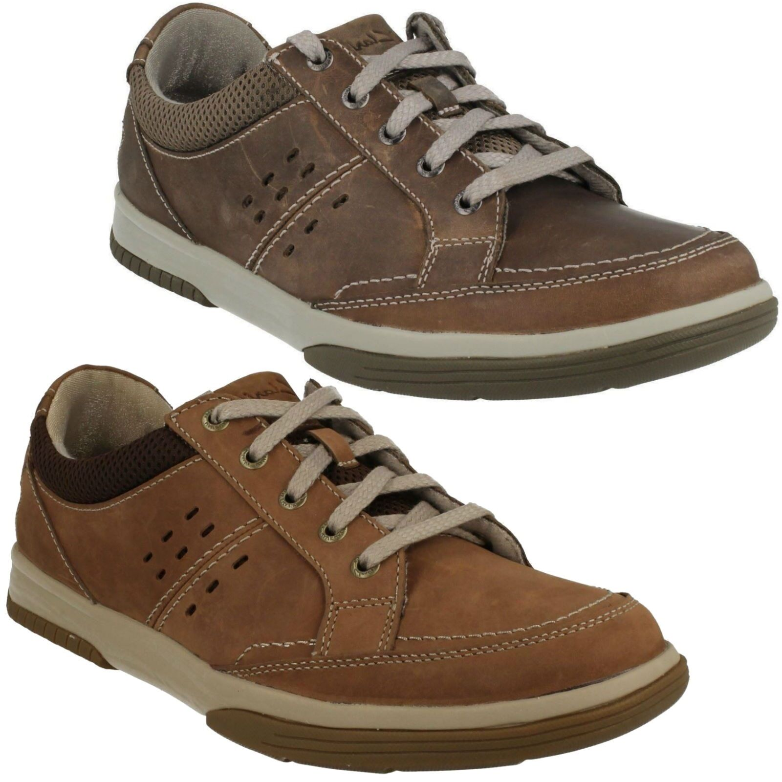 WAVECAMP PATH  Herren CLARKS LACE UP NUBUCK LIGHTWEIGHT CASUAL SPORTY WALKING Schuhe