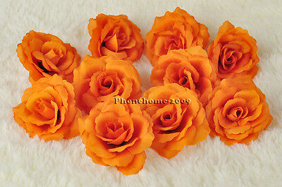 12P* Chinese Rose Head Artificial Silk Flower Party Wedding Home Decoration FH04