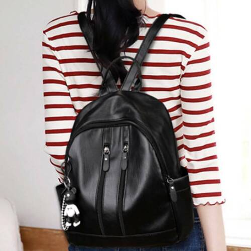 US Stylish Womens Leather Backpack Travel Rucksack Casual Shoulder School Bags