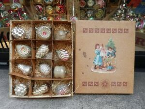 NATALE-CHRISTMAS-antiche-decorazioni-VETRO-victorian-tree-decorations-antique