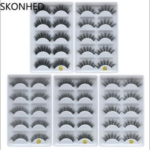 SKONHED-100-Real-Mink-3D-Volume-Thick-Daily-False-Eyelashes-Strip-Lashes-Hot