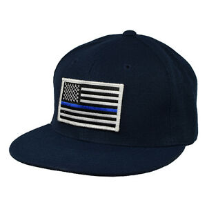 Image is loading Thin-Blue-Line-Hat-Navy-Blue-Snapback 29d6c1ff8ce