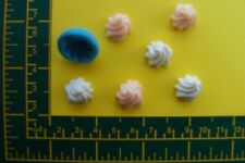 15 mm WHIPPED CREAM silicone mould Fimo, Cernit,Sugarcraft, Food Safe