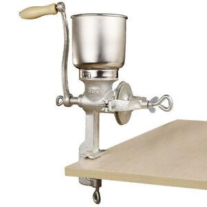 Heavy-Duty-Cast-Iron-Corn-Grain-Nuts-Tall-Mill-Counter-Grinder-Manual-Hand-Crank