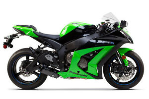 2011-2016 ZX10R Two Brothers V3 Carbon Slip On Exhaust ZX10 Black ...