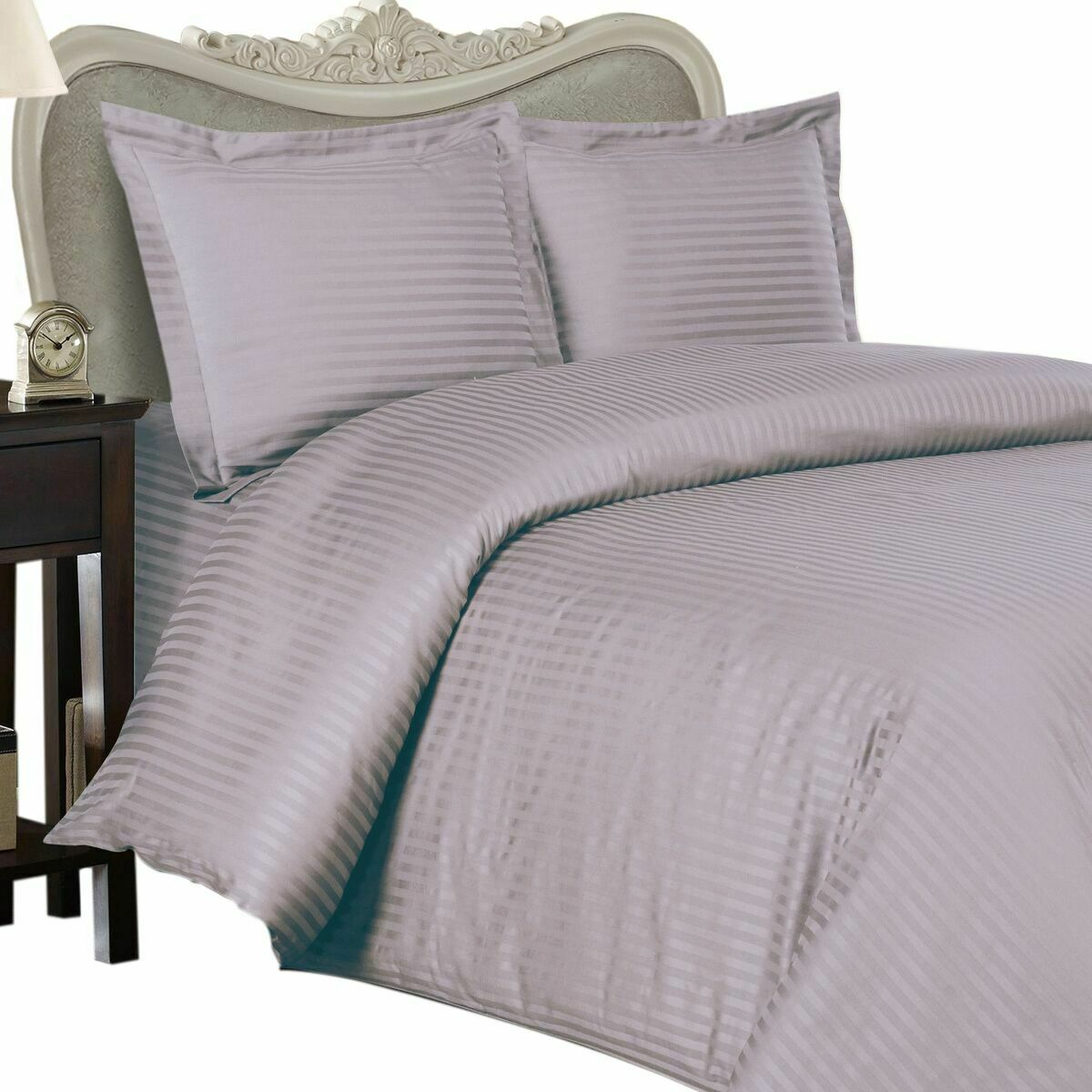 1500 Thread Count 100% Egyptian Cotton Sheet Set OLYMPIC QUEEN Lavender Stripe