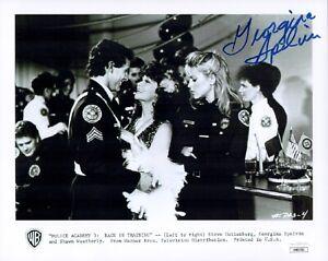 GEORGINA-SPELVIN-Signed-POLICE-ACADEMY-8x10-Photo-Actress-Autograph-JSA-COA-Cert