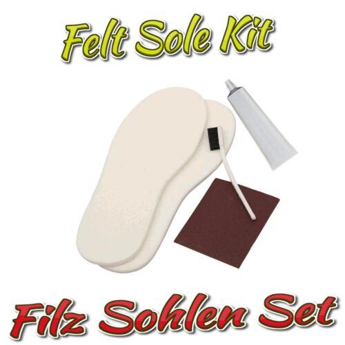 Colle Filzsohlen-Set//FELT SOLE Trousse Pour Wathosen et watschuhe INCL
