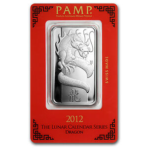 1 Oz Silver Bar Pamp Suisse Year Of The Dragon Sku