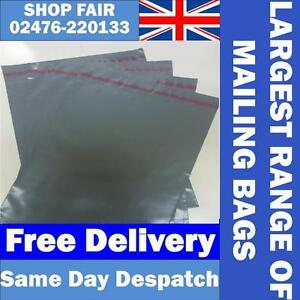 50-Mixed-Strong-Grey-Mailing-Postage-Poly-Plastic-Bags