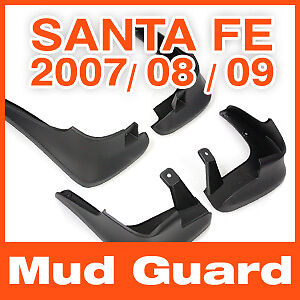 4PCS for Hyundai Santa Fe 2007 2008 2009 Genuine Parts Mud Guards Flaps Splash