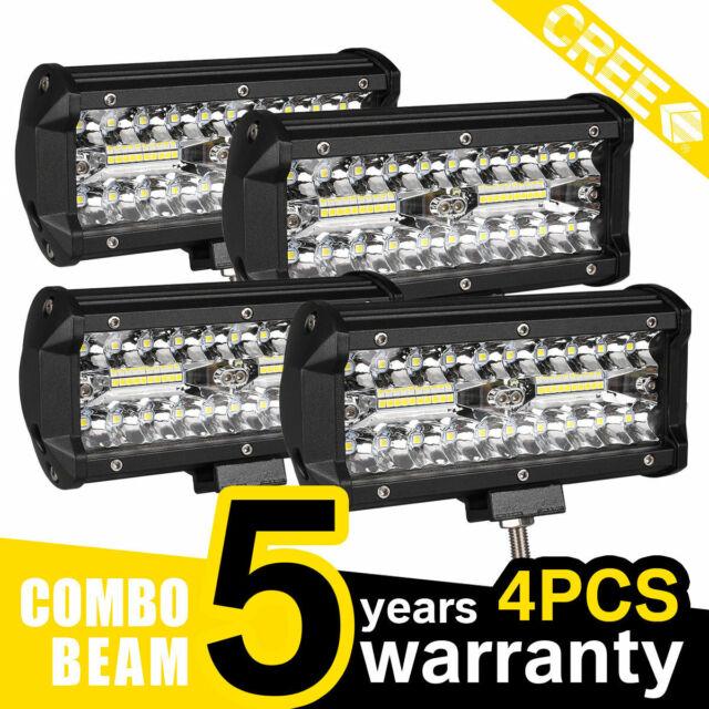 2x SUV Offroad Pickup Headlight 18W 6 Cree-Led Spot Work Fog Driving Light Lamp