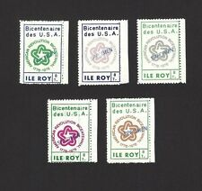 Ile Roy Fantasies 1976 American Bicentennial SPECIMENS 5v perf MNH ex Jim Czyl