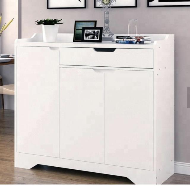 White Shoe Storage Cabinet Unit Cupboard Hallway Furniture Living Room Rack