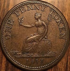 1813-LOWER-CANADA-WELLINGTON-ONE-PENNY-TOKEN-Breton-984