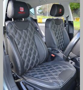 SEAT Leon MK2 Tailored Leather Look Diamond Quilted Car Seat Covers