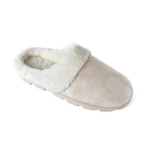 Ladies Slippers Hook /& Loop Plush Memory Foam House Shoes Loungewear UK Size 4-8