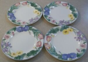 SET-OF-4-MIKASA-SPRING-LEGACY-CAR19-SALAD-DESSERT-PLATES-7-3-4-inches