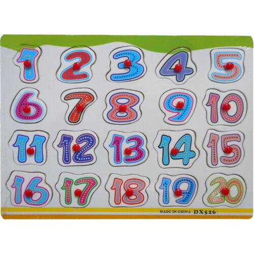 Kids Children Peg 1-20 Jigsaw Puzzle Toy Baby Developmental Wooden Toy 12207