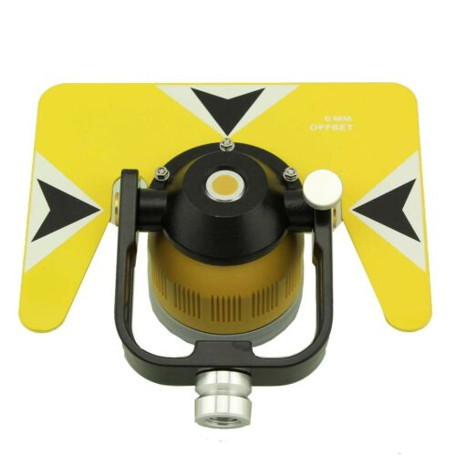 Yellow color single prism  with Bag for total station 5//8x11 thread.