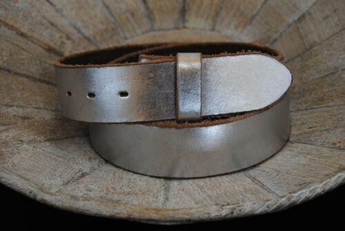 silber UmjuBELT Ledergürtel 80 cm