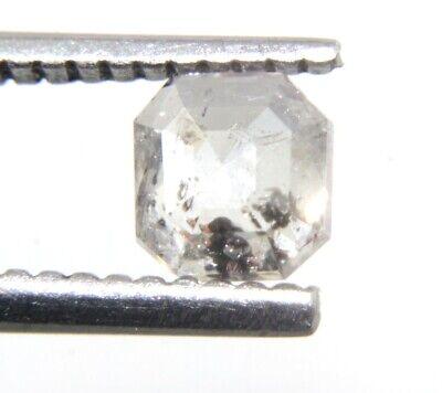 0.85 Ct 7.90x5.53mm Natural Salt  and Pepper Radiant Shape Grey Black Color Diamond A149