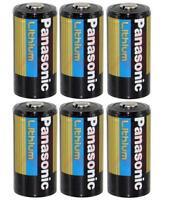 6 Panasonic 3v Lithium Cr123a Batteries For Camera, Flashlight Etc