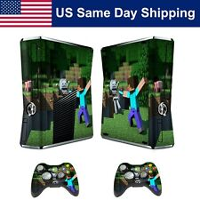 Skin Sticker Cover Gamepad for Xbox 360 Slim Console and 2 Controller Decal