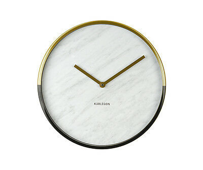 Karlsson Wall Clock Marble Delight in Gold