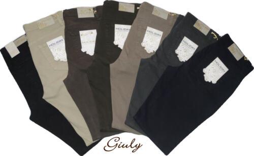 Pantalone HOLIDAY DONNA 42-56 cotone stretch pesante vita alta jeans 324104120