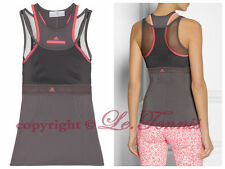 $120 Adidas Stella McCartney Mesh Run Tee Shirt Yoga Gym Tank Top - S fits 34 36