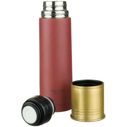 Jack Pyke Cartridge 500ml Flask Drink Portable Insulated Stainless Steel Red