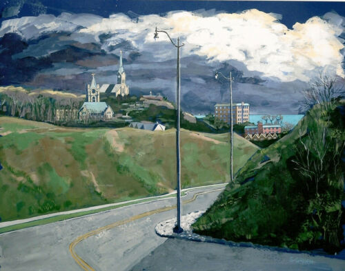 View From South Beach Road by Shirley Gruen Prints 21 x 26