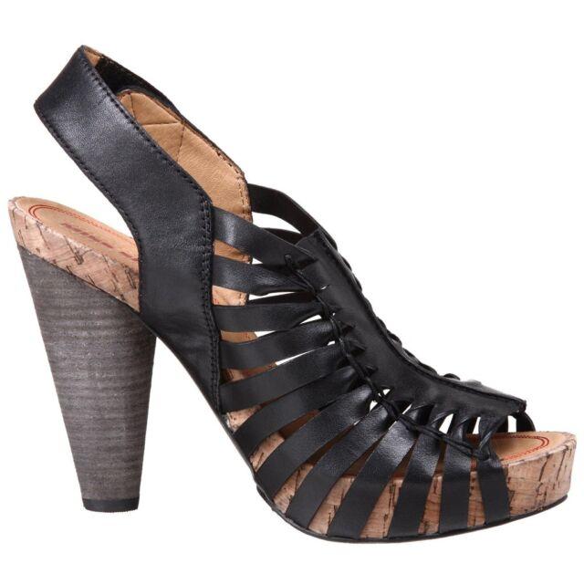 Miss Sixty NIB Tanner Twisted Leather High Heel Platform Sandals 6 M