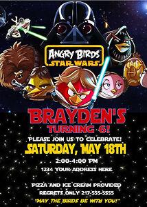 Angry Birds Star Wars Custom Birthday Invitations U