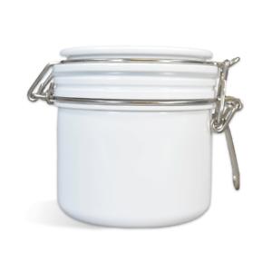 12 oz 6 White PET Bail Jars /& Lids