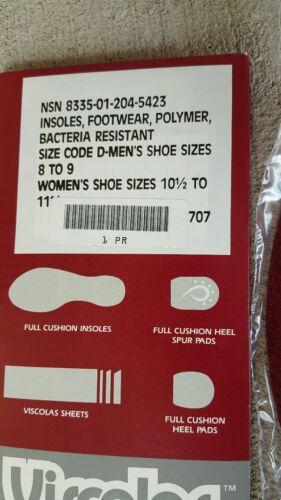 New Viscolas Insoles Shock Absorbing Cushion Men Shoe 8-9 WM 10 1//2-11 1//2