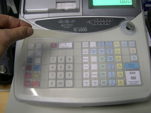 Casio TE-2200 Tastaturschutz Kasse Kassenabdeckung Fachhändler Bäckerei Blumen