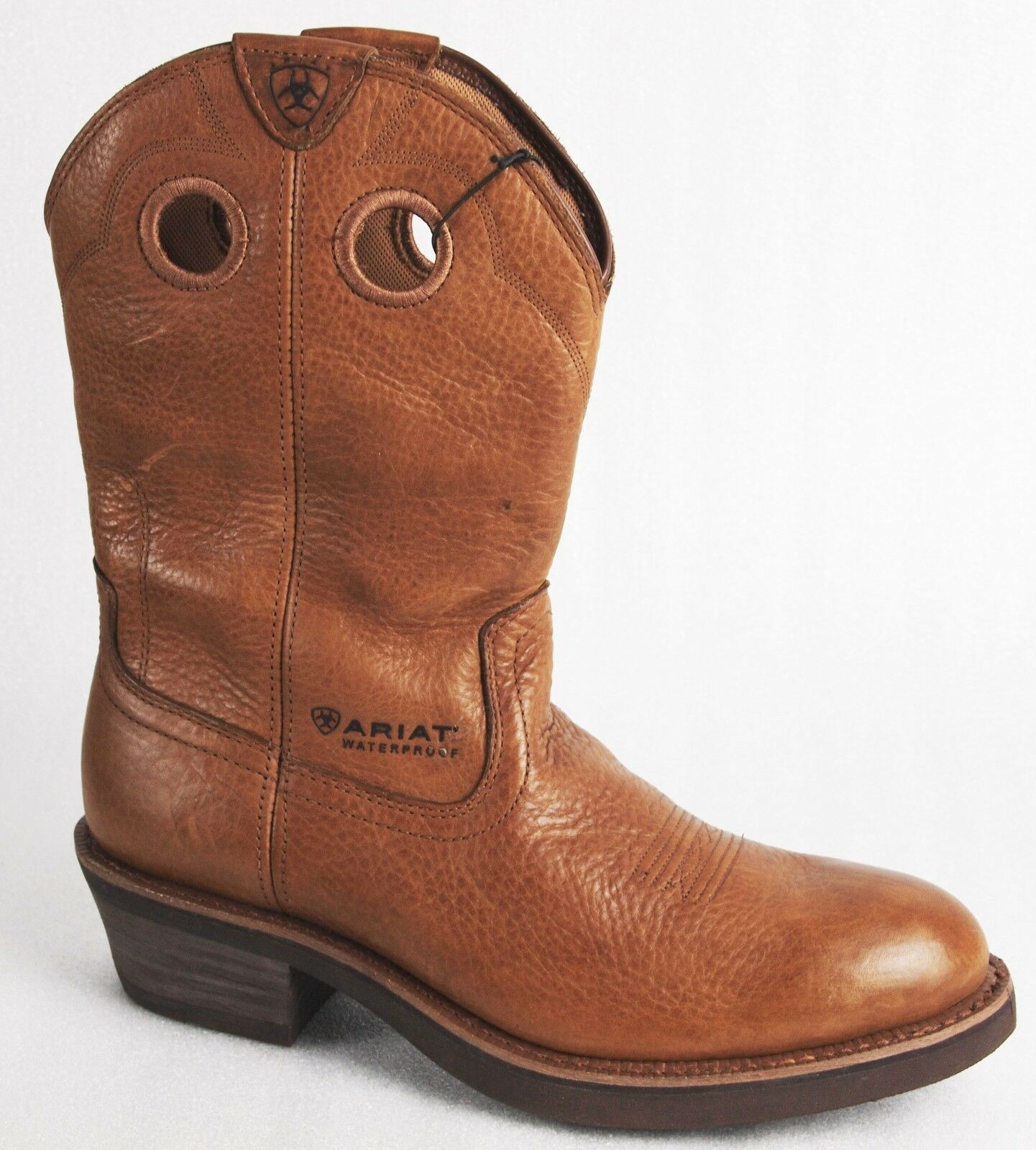 Ariat Trailhand Waterproof Golden Grizzly Cowboy/Western Boots-Stock Clearance