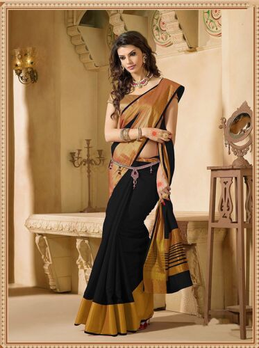 Black Bollywood Saree Party Wear Indian Pakistani Ethnic Sari