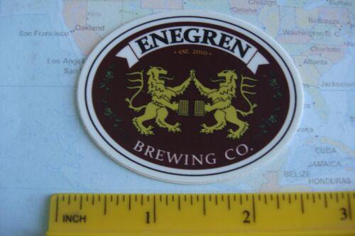 CALIFORNIA Brewery BEER Collectible STICKER ~*~ ENEGREN Brewing Co ~*~ Moorpark