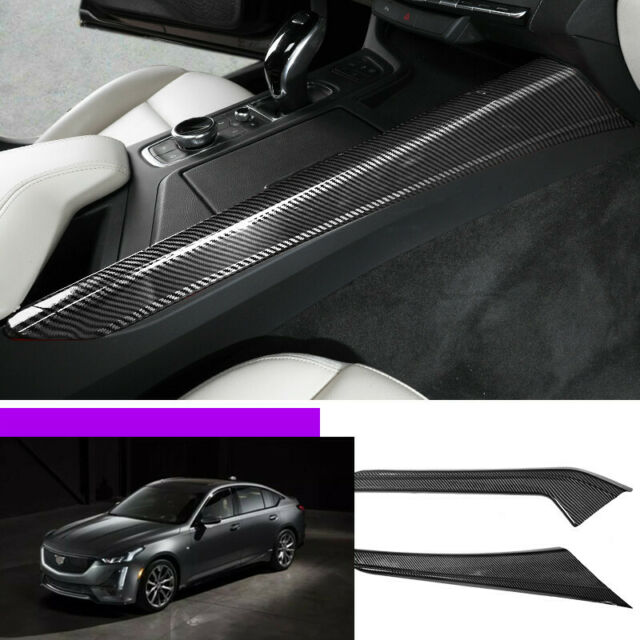 For Cadillac Ct5 2019-2020 Carbon Fiber Centrol Console