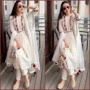 Salwar-Kameez-Suit-Indian-Pakistani-Designer-Dress-Shalwar-New-Party-Wear-plazoo