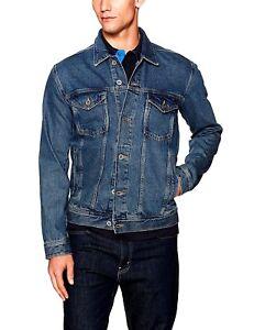 fa038ded New $150 TOMMY HILFIGER Mens Size L Denim Jean Trucker Jacket ...