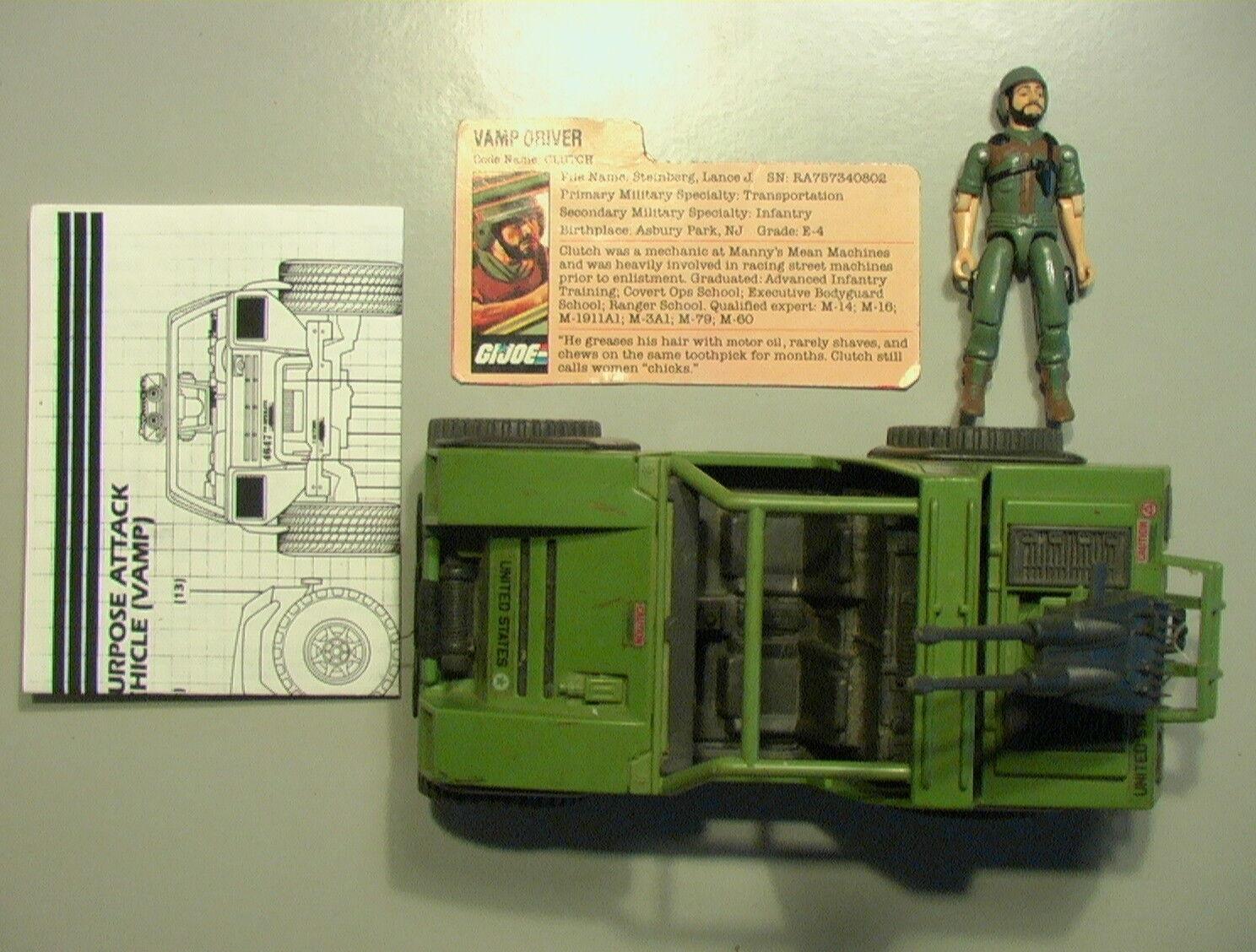 GI Joe VINTAGE 1982 VAMP Mk.I Incompl C-6 w/100% Clutch/Bio/Catalog Hasbro ARAH