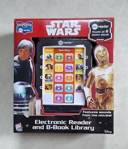 STAR-WARS-ELECTRONIC-READER-amp-8-BOOK-LIBRARY-NEW