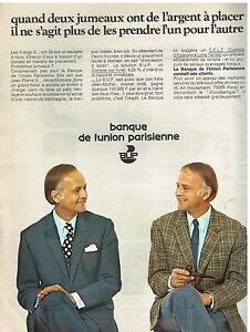 Beautiful Publicité Advertising 1973 Bup Banque De L'union Parisienne Other Breweriana