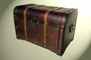 Image Is Loading Beautiful Wooden Trunk Treasure Chest Storage Box Deco