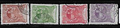 Europa Briefmarken Rumänien 161-164 Gestempelt Reinweiß Und LichtdurchläSsig Rumänien