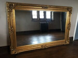 Large Antique Gold Overmantle French Ornate Vintage Period